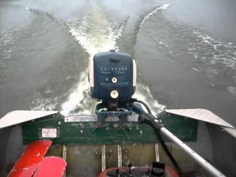 Evinrude Sportwin 10hp Outboard Boat Motor Running At