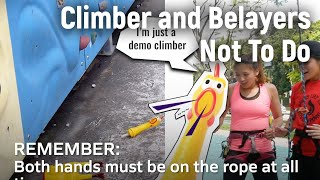 What Not To Do while Climbing - Sport Climbing Level 1 Tutorial | MOA Academy