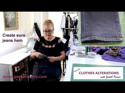 Create euro jean hem
