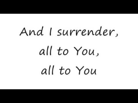 Surrender Lincoln Brewster 16x9 lyrics