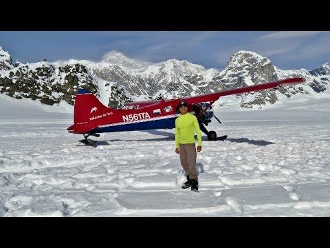 Denali Scenic Flight Tour and Glacier Landing  4K
