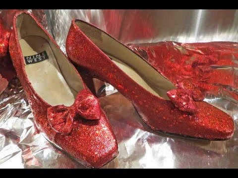 dorothy s ruby red slippers tutorial easy youtube
