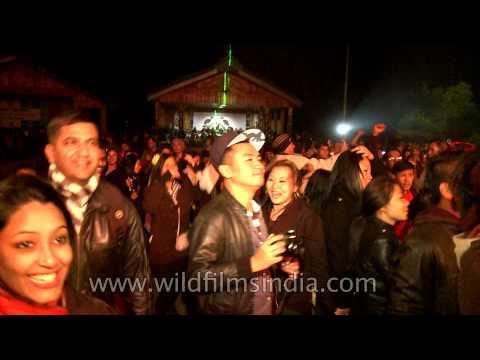 Hornbill Festival Closing ceremony Bollywood style, in Nagaland