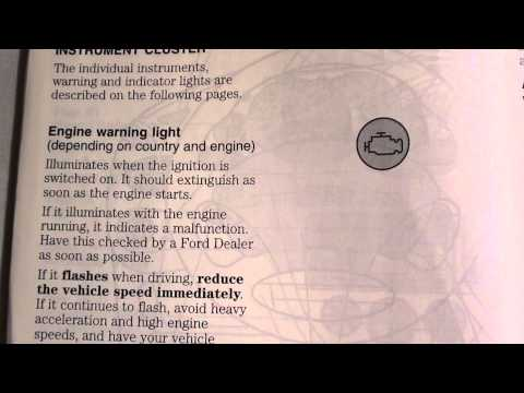 Ford Focus Engine Warning/Management Light - How to deal with it