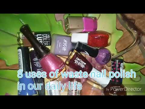 Diy 8 uses of  waste Nail Polish in our daily life/ nail paint hacks/ make daily routine work easy
