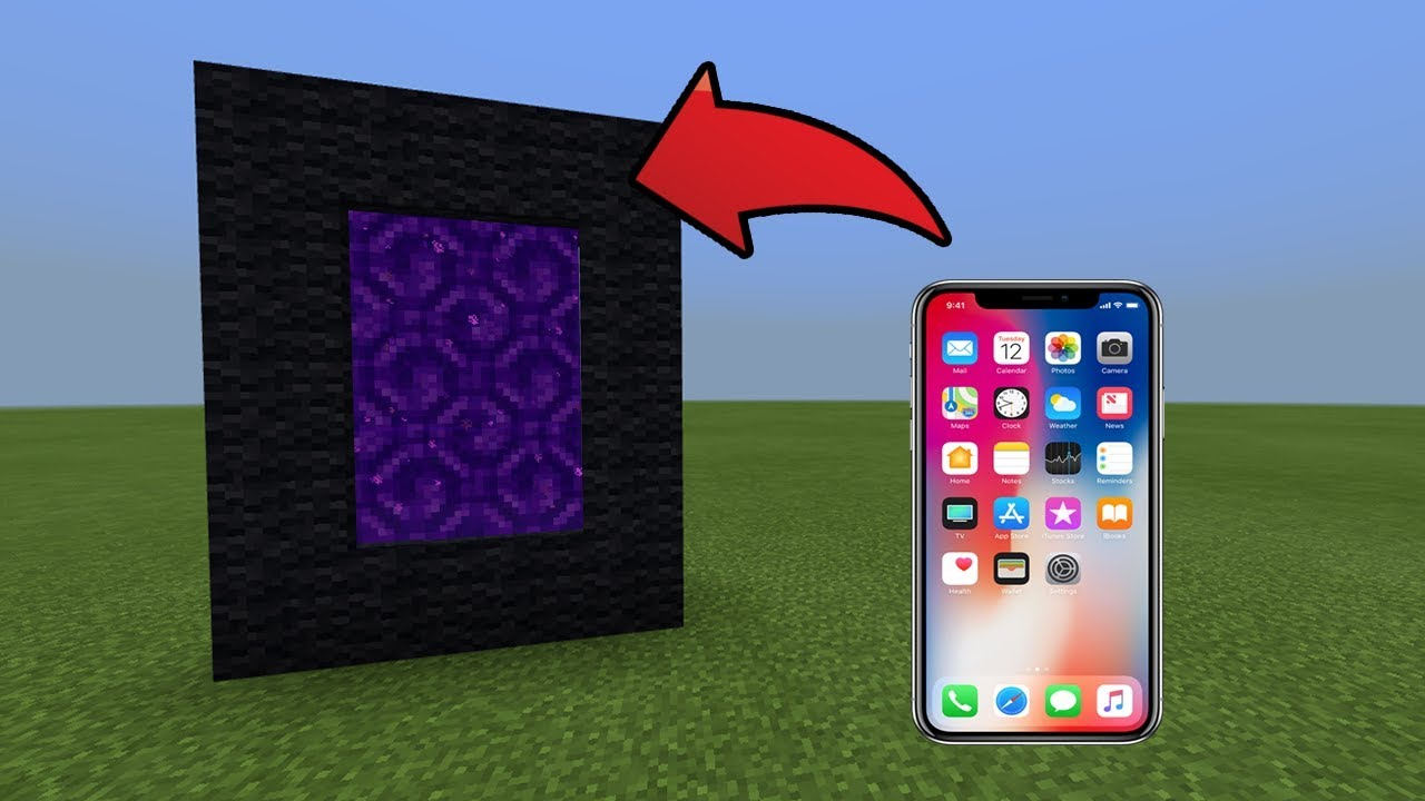 how to make a portal to space in minecraft pe