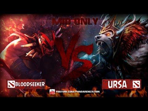 видео: bloodseeker vs ursa [Битва героев mid only] dota 2