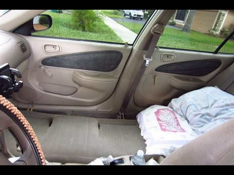 Compact car camping 2001 Toyota Corolla