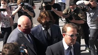 video: Johnny Depp arrives at High Court for first day of libel case over 'wife beating' story