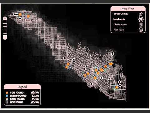 la noire landmark map youtube. Black Bedroom Furniture Sets. Home Design Ideas