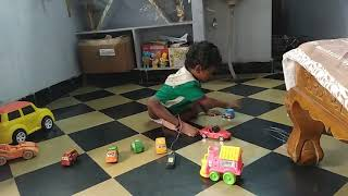 vuclip Kautilya playing with cars/ new car toys/ kid paly with toys