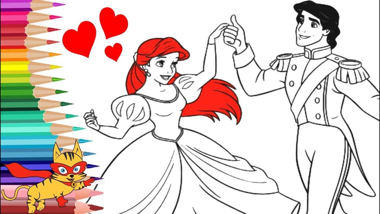 💕 Colorear la Princesa Sirenita Ariel | Ronino Dibujos para ...