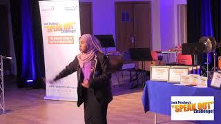 "Aisha Abdirahman, Winner, Jack Petchey's ""Speak Out"" Challenge! Brent Regional Final 2017-18"