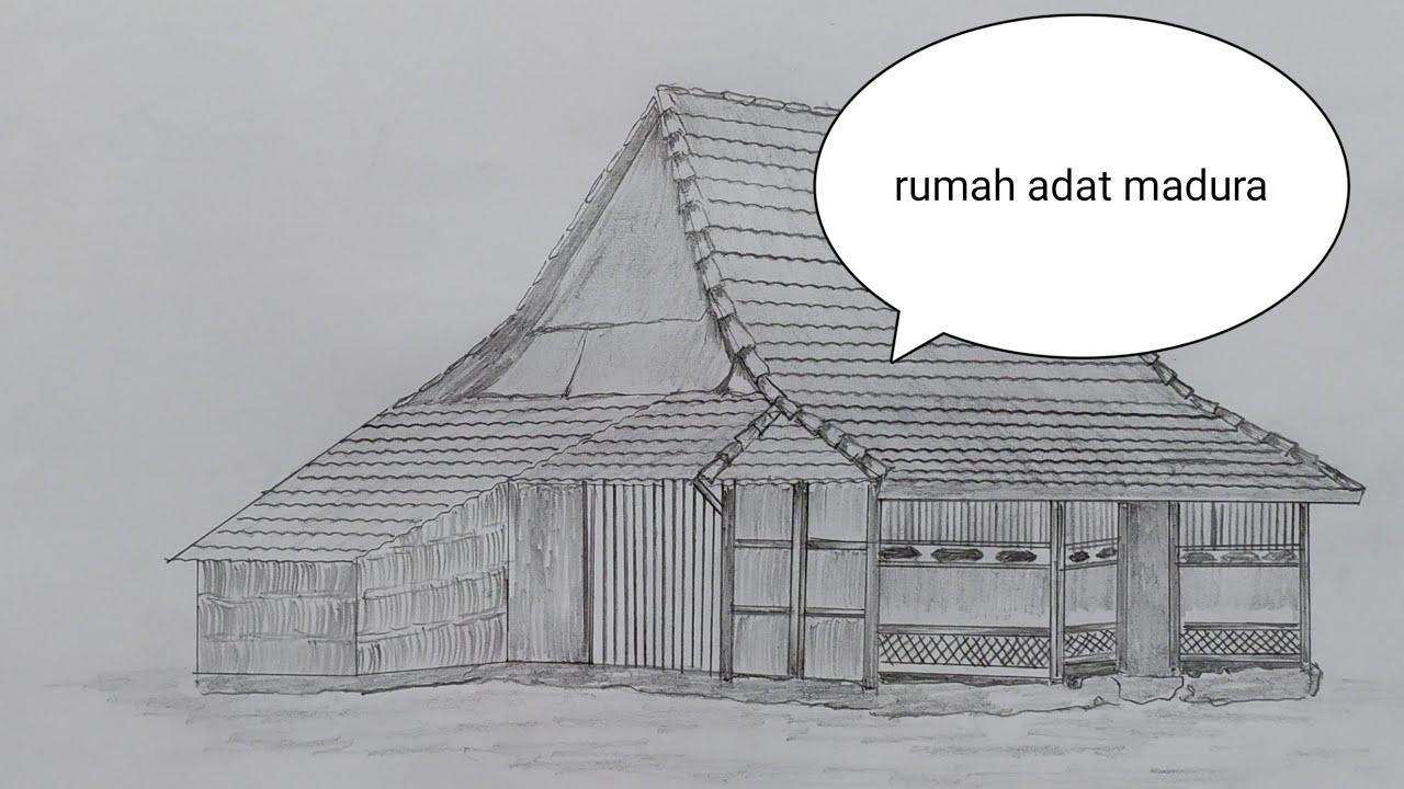 Cara Menggambar Adat Madura Tanean Lanjhang