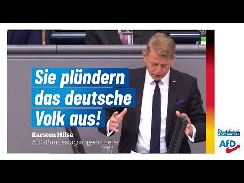 Sie plündern das deutsche Volk aus!