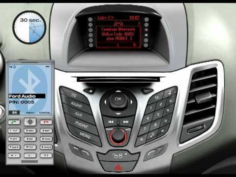 Ford Fiesta Connexion d'un téléphone portable - YouTube