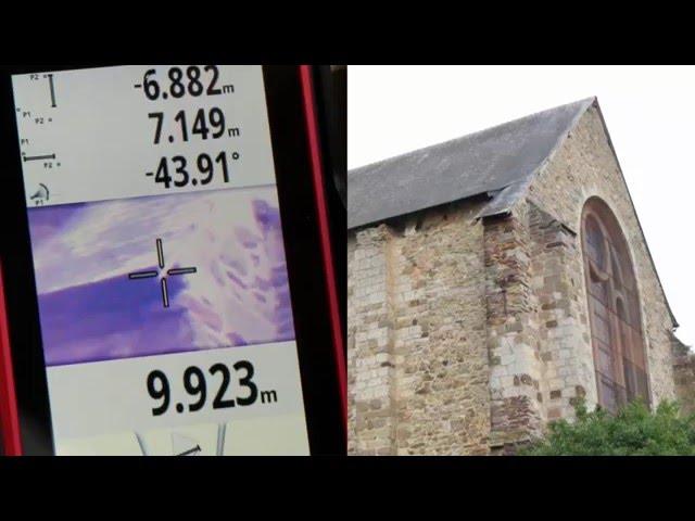 Leica DISTO S910 - Mesurer un rampant de toiture
