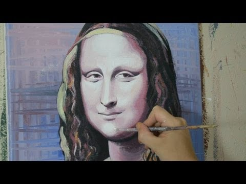 Painting the Mona Lisa - Contemporary Art Style