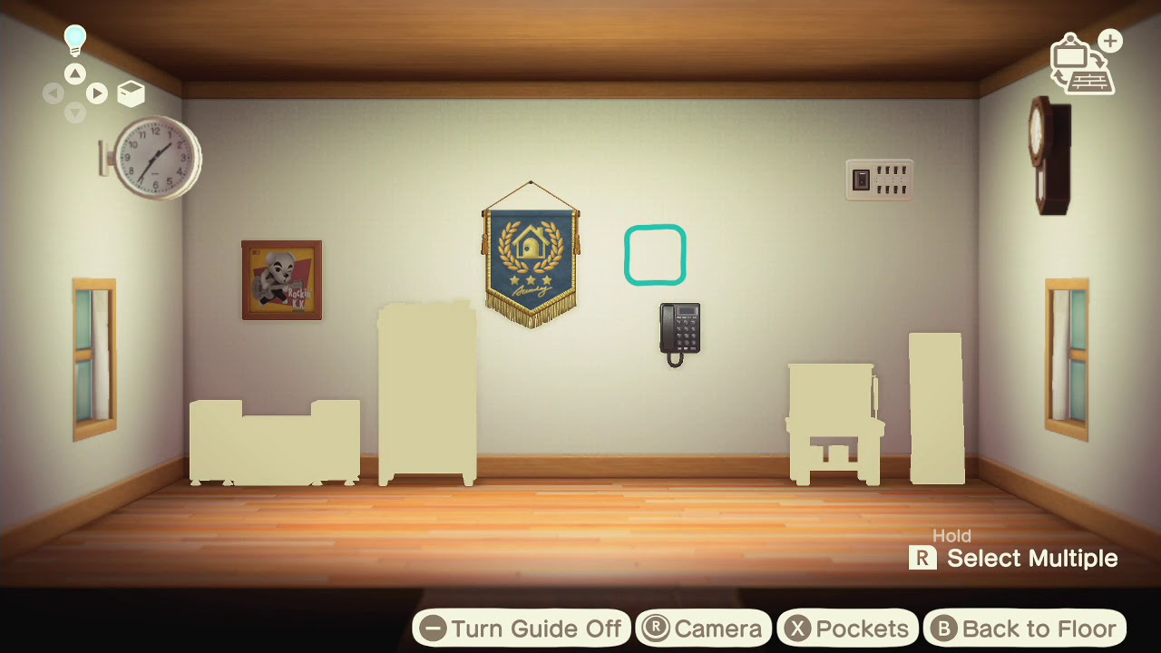 Animal Crossing New Horizons How To Put Items On The Walls Of