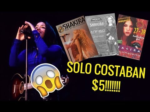 Cuanto Han Costado Los Boletos De Todas Las Giras De Shakira?