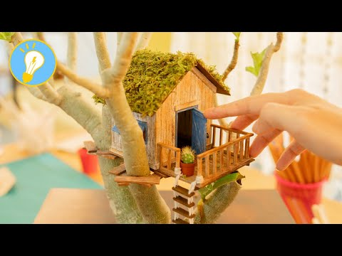 DIY Miniature Tree House-Wooden House Design