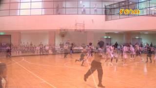 H25 第43回 関東中学校バスケットボール大会 志茂田VS桐生中央(ダイジェスト)(女子2回戦)