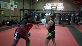 Jimmy Spicuzza training drills with coach Dewey Cooper