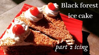 Black forest ice cake|part 2(icing)yummy delicious  recipe| easy recipe  #icecake #justyummm