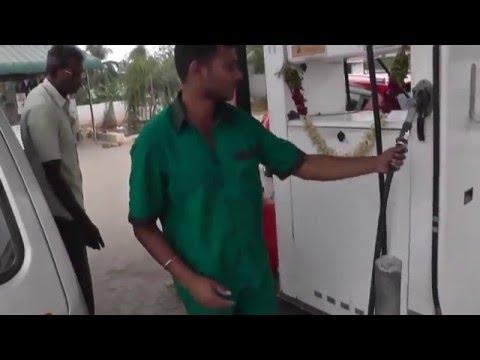 Filling Liquid Petroleum Gas LPG in car