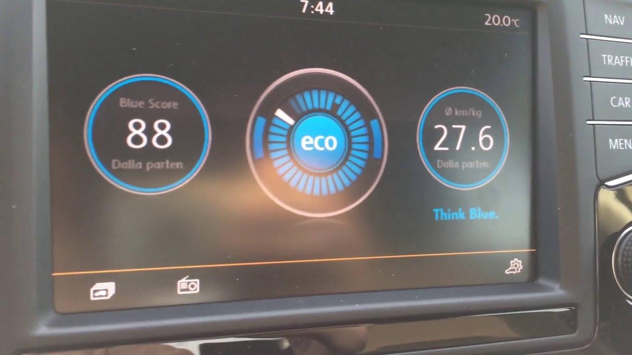 Menu Think Blue Trainer on Golf A7 TGI - YouTube