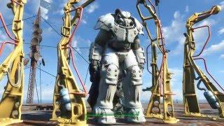 Fallout 4 - Уникальные окраски Силовой брони X01 - окраска института, плюс к интеллекту.