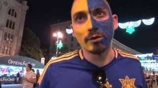 Andy Carroll's biggest fan in Kiev and Ukrainians predict England result