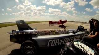 Smoke-N-Thunder Jetcar race agains Lucas Oil plane GoPro Hero3