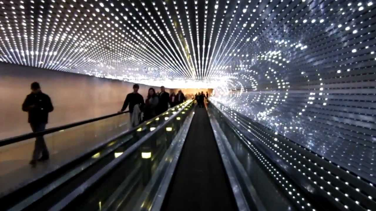 The Concourse Walkway And Multiverse Light Sculpture