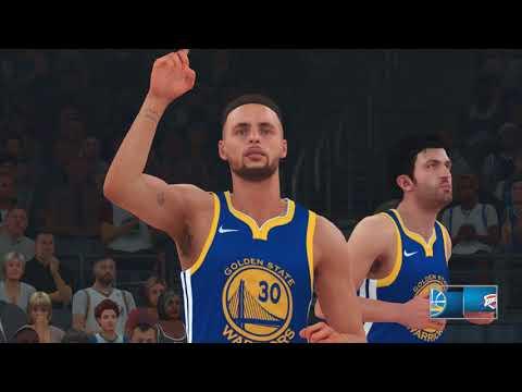 NBA 2k18 - Nintendo Switch: Golden State Warriors vs Oklahoma City Thunder | Full Match (1080p)
