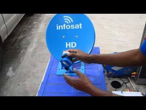 การติดตั้งจานดาวเทียมด้วยตัวเอง how to install Satellite by oneself