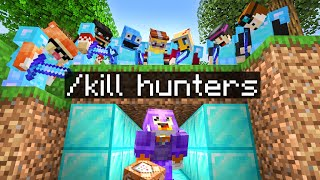 Minecraft Manhunt but I have CUSTOM COMMANDS