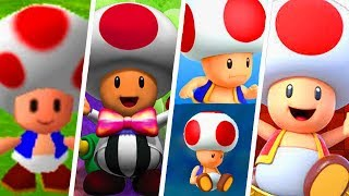 Evolution of Toad in Super Mario Party Games (1998 - 2018)