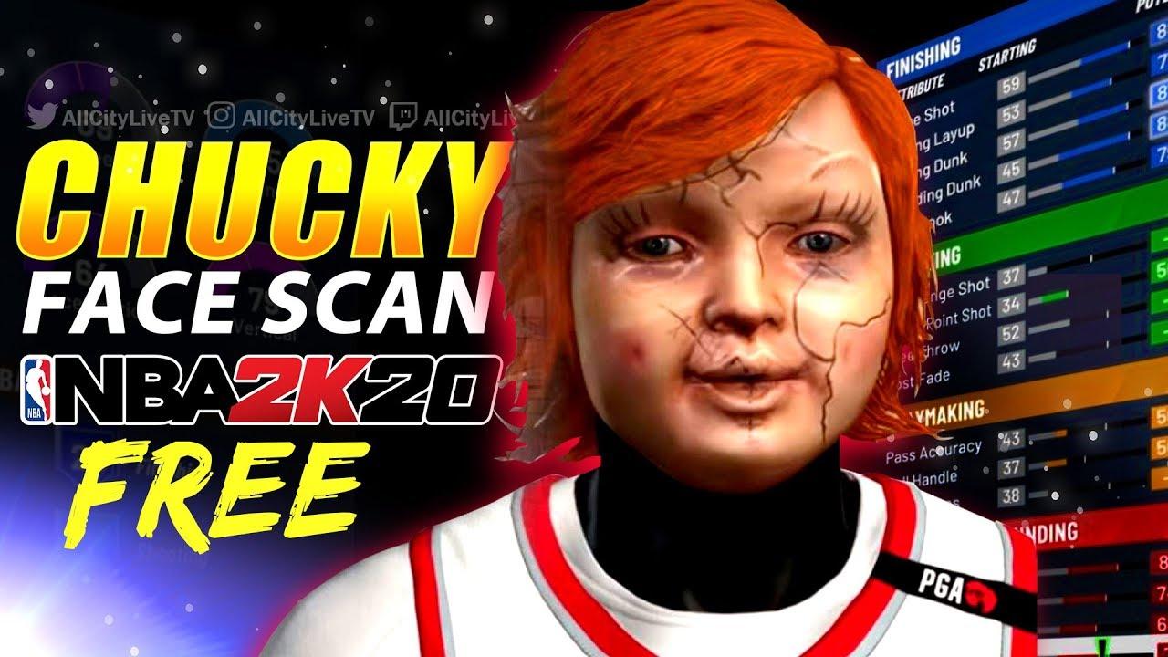 Chucky Face Scan For Free Nba 2k20 Custom Face Scan Youtube