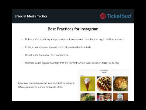 Event Marketing Strategies - 8 Social Media Tactics to Ignite Ticket Sales