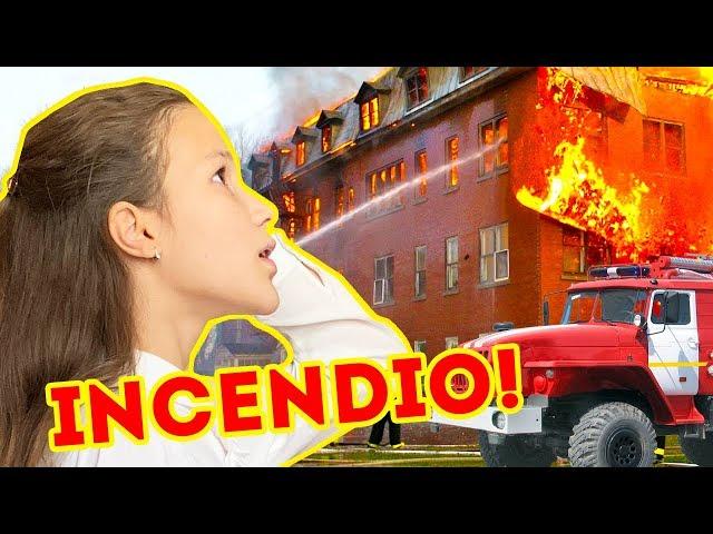 INCENDIO EN EL COLEGIO DE DANIELA | EMERGENCIA - PASA MUCHO MIEDO | Yippee Family