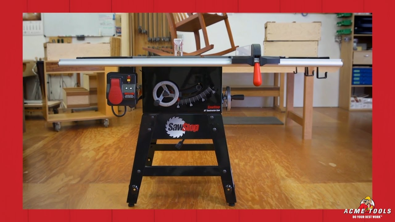 Sawstop Contractor Table Saws Youtube