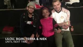 Silverback Open 2016 Lilou, Bgirl Terra & Niek vs Team Monster Top 16 3 vs 3 Battle
