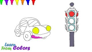 Traffic Light Drawing Coloring Pages For Kids