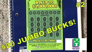 💵Playing Another $20 Millionaire Jumbo Bucks | Tennessee Lottery 💵
