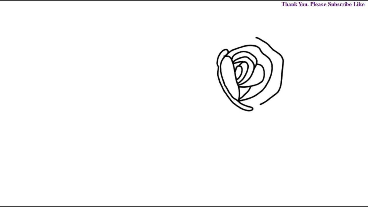 How To Draw A Rose Flower For Kids Step By Step Easy Drawing Learn Todraw