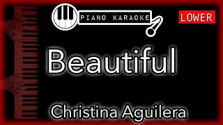 """Piano karaoke instrumental or """"beautiful"""" by christina aguilera (4 semitones lower)you can now say thank you and buy me a coffee! ☕️it will allow to keep ..."""