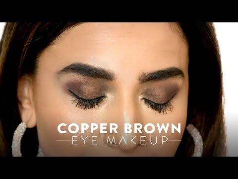 Copper Brown Eye Makeup Look | MyGlamm