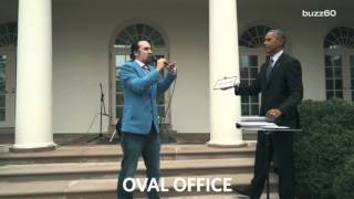 Obama and Lin-Manuel Miranda dominate the Rose Garden in epic rap freestyle