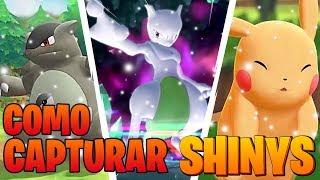 Cómo CAPTURAR SHINYS FÁCILMENTE en Pokémon Lets GO Pikachu Eevee